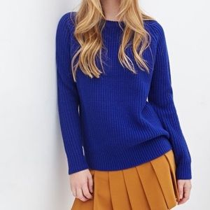 F21 royal blue sweater